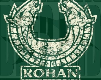Rohan T-Shirt the Lord of the Rings the hobbit screen printed Forest Green