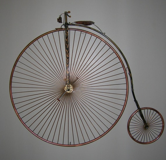 High wheel bicycle wall art h wall decal for Bicycle wheel wall art