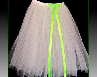 "Tutu skirt 30"" long  and a floor length bow to match customize your size and color(s) priority shipping"
