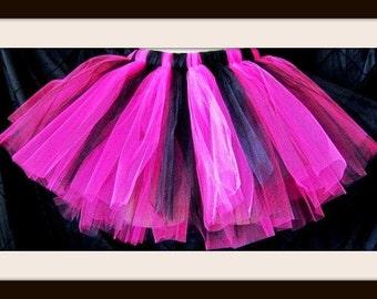 Hot pink and Black Tutu, Marathon tutu, Baby First Tutu, Bacheloret Tutu,Tutu Skirt, Boutique Full Tutu, Custom orders alway welcome