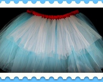 Alice in Wonderland Tutu,Adult tutu,Plus Size tutu,Toddler Tutu,knee length Tutu,Birthday tutu, custom orders welcome