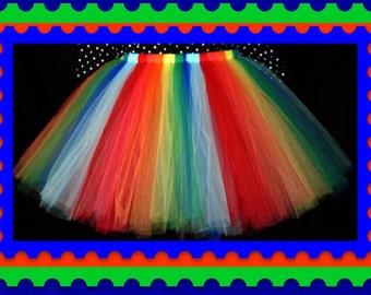 Rainbow tutu skirt ,Plus size Tutu Skirt,Tea Length Tutu Skirt  Custom Tutus alway welcome,Maid of Honor Skirt,Birthday Tutu Skirt