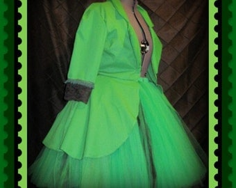 Tutu Skirt  Gothic Jacket Outfit customize your in your colors