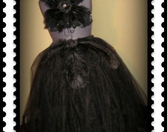 Black Swan Tutu Skirt  Outfit customize your in your colors or size