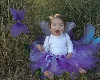 Tutu Skirt Set  hair piece wings and skirt with bow customize yours all sizes welcome