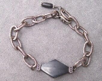 Gun Metal Chain Bracelet