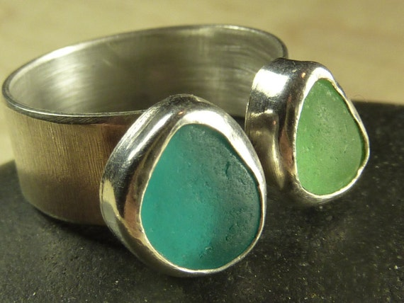Seaglass ring- size 7