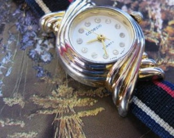 CAPEZIO Watch Retired  LADIES Wrist Watch Quartz and  Works  Glitzy Sparkles Rhinestones ITALIAN Design On Clearance Now