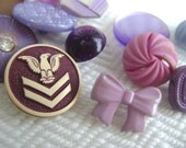 Vintage Button Assortment in Lilac, Plum, and Purple