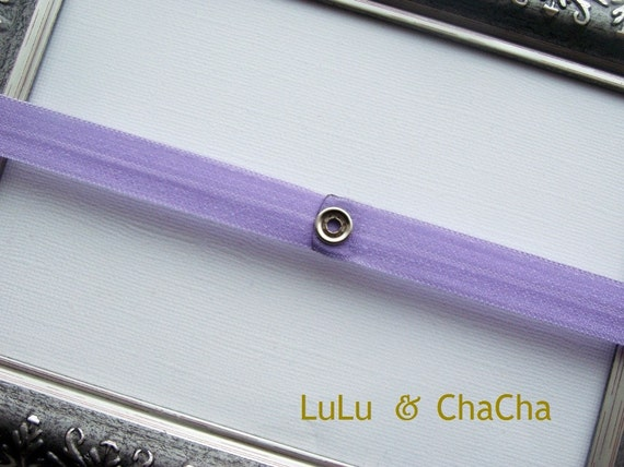 Lavender Interchangeable SNAP headband
