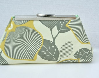 Yellow and Gray Handbag Clutch for Bridesmaids gift or special occasion Design your Own