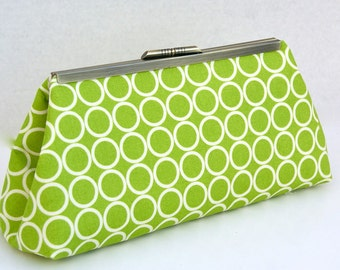 Green Clutch Handbag for Bridesmaids Gift or Holiday Gift- Design your Own in Various Colors and Patterns