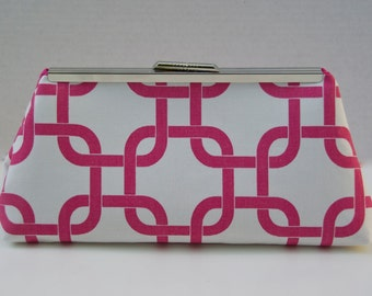 Pink Fuchsia Handbag Clutch For Bridesmaids or Gift Custom Made Design your Own