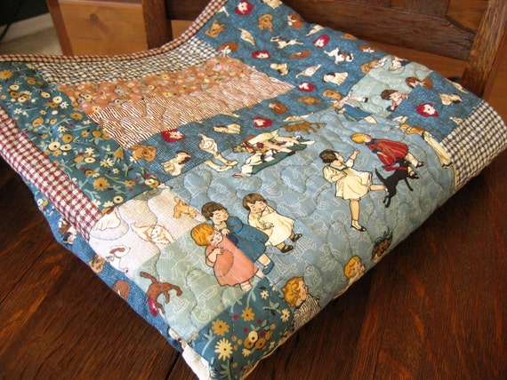 Children At Play Baby Or Toddler Quilt In Thimbleberries