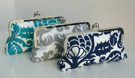 Custom Wedding Party Handbag Clutch Gift for Bridesmaids in Various colors Design your own