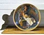 Dreaming in the Attic, Norman Rockwell Vintage Plate, Rediscovered Women Collection by Knowles China, Home Decor