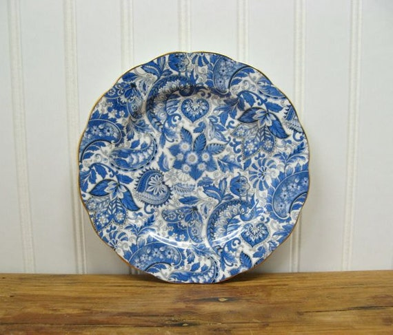 Royal Standard China Vintage Salad Plate Blue By Anidar