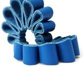 Electric Blue Loop Hoop Earrings