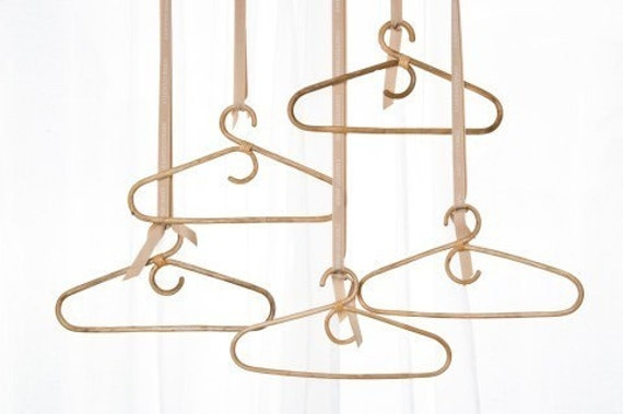 Handcrafted Bamboo Hanger.  Set of 10.
