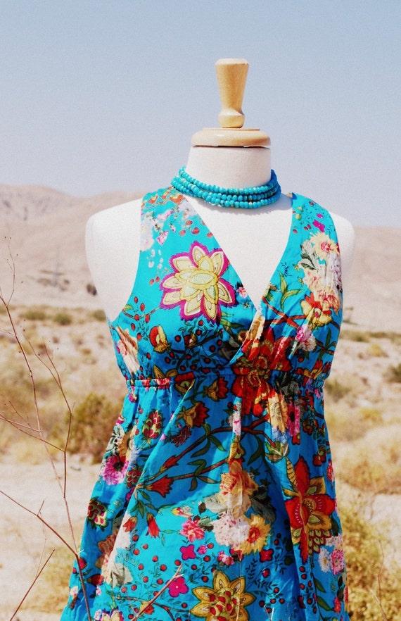 Tank Dress. Darling Jardin Bleu.