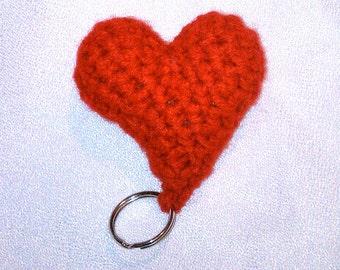 Heart Crochet Plush Keychain