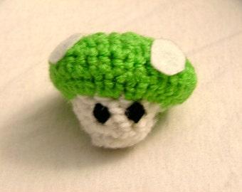 Crochet Green Mushroom