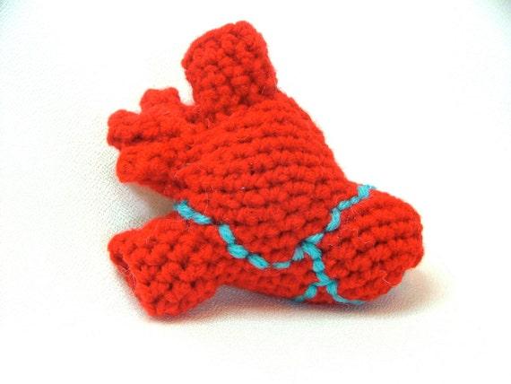 Heart, Anatomical Crochet Plush