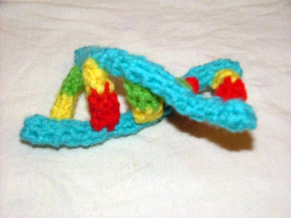 DNA Double Helix, Crocheted