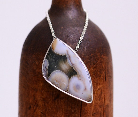 There is comfort where we overlap...ocean jasper necklace in sterling silver