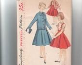 1940s VINTAGE Pattern 1479 Simplicity Pattern Company, Size 8 Girls