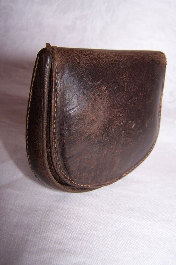 Vintage Mens Brown Coin Pouch By Endlessc On Etsy