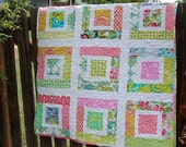 Lulu's Quilt PDF PaTTeRN - Easy Baby Quilt - Scraps Jelly Roll Charm Squares - PDF