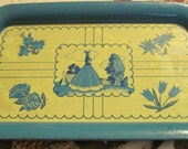 Vintage Tray Edwardian Lady Tray With figures