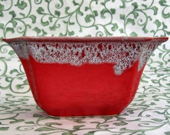 Planter 60s Drip Glaze Red Abstract 50% off