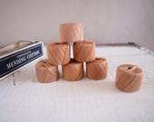 Vintage Beige Mercerized Mending Cotton Thread in Original Box