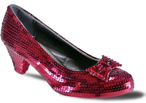 SIZE 10 Princess Pumps Sequin Slippers