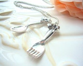 Antique Sliver Fork and Spoon Necklace