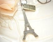 Letter to Paris Charm Necklace
