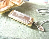 Sliver Harmonica Necklace