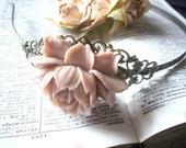 Vintage Dusty Rose Flower Headband