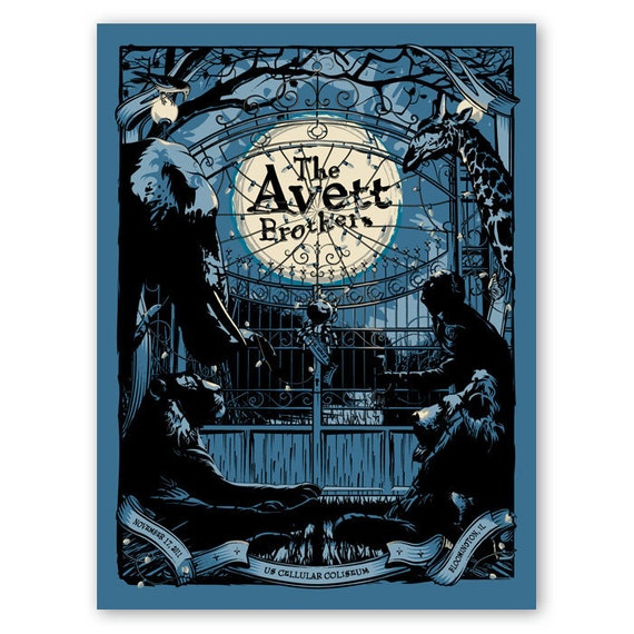 Avett Brothers Official Poster - Bloomington, IL - Last Available