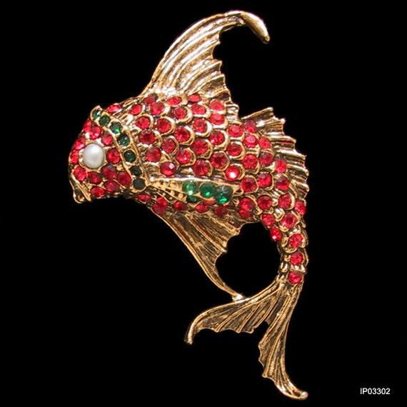 Vintage Fish Pin Thelma Deutsch 1980s