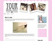 Premade Theme for Blogger // Snap It Pink