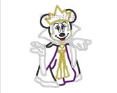 Minnie Mouse as The Evil Queen Digitized Applique Embroidery Machine Design Pattern 4x4 5x7 6x10