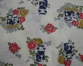 vintage kitty cat print fabric 2.25 yds