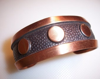 Vintage Bell Copper Cuff Bracelet