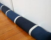 Door Draft Stoppers, Draft Guard, Navy Blue Bold Stripes, 34