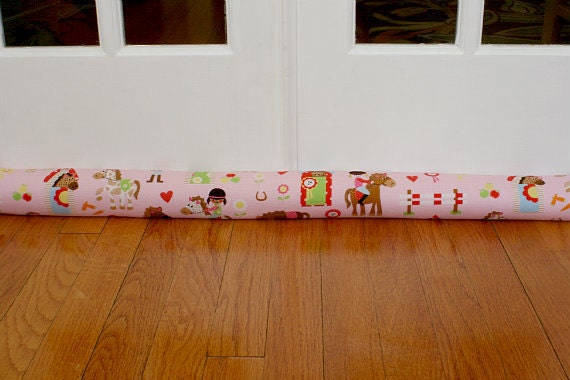 Door Draft Stopper,  Draft Snake, Pink, Horses, Girls, Childrens. 199.