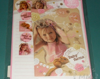 Japanese Baby Farms Cute Princess Journaling, Scrapbook, Origami Letter set and paper