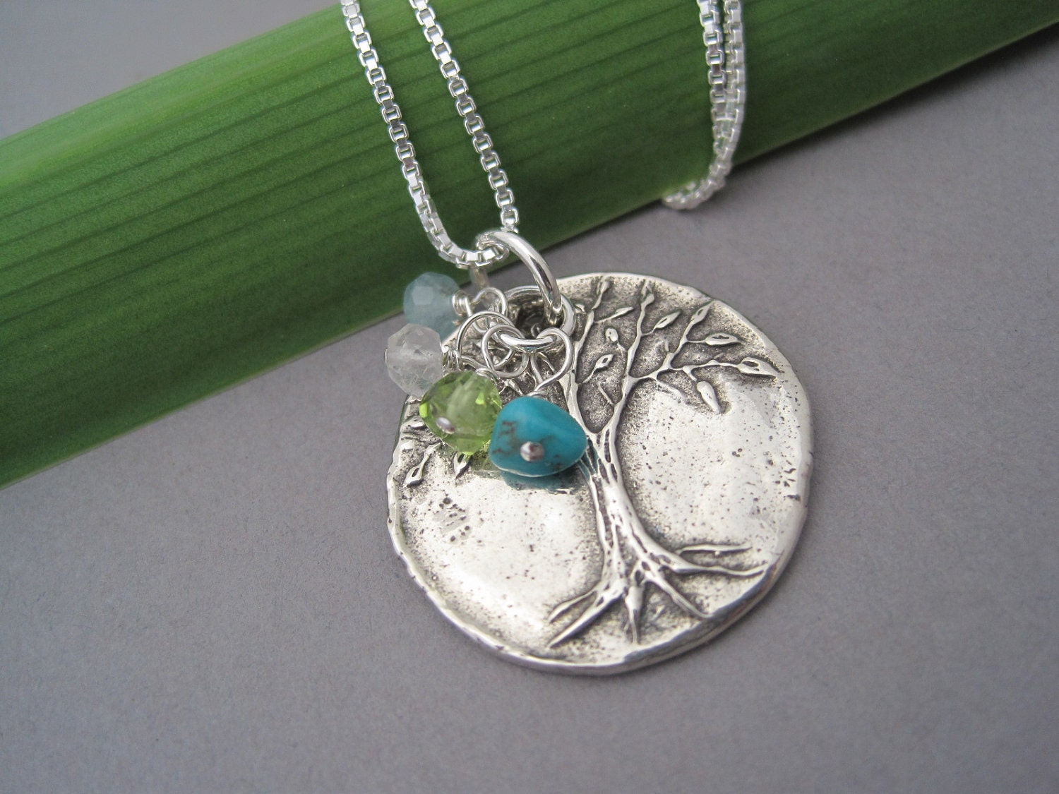 family tree necklace tree of pendant birthstone